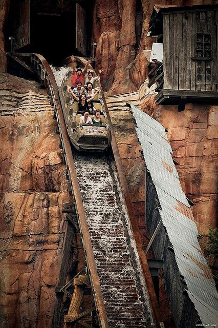 Wild West Falls Ride at Warner Bros. Movie World. Gold Coast, Queensland, Australia.