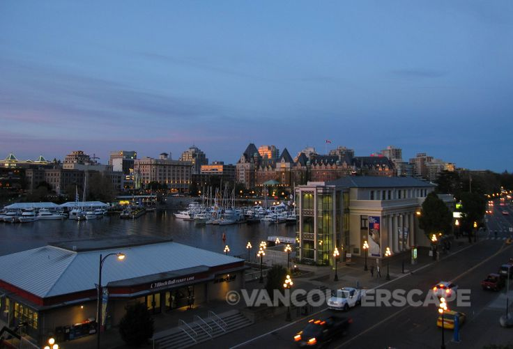 View of Victoria BC Inner Harbour from Hotel Grand Pacific