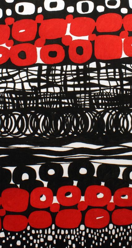 abstract : Otto  Sheeting  Black, White, Red |Pinned from PinTo for iPad|