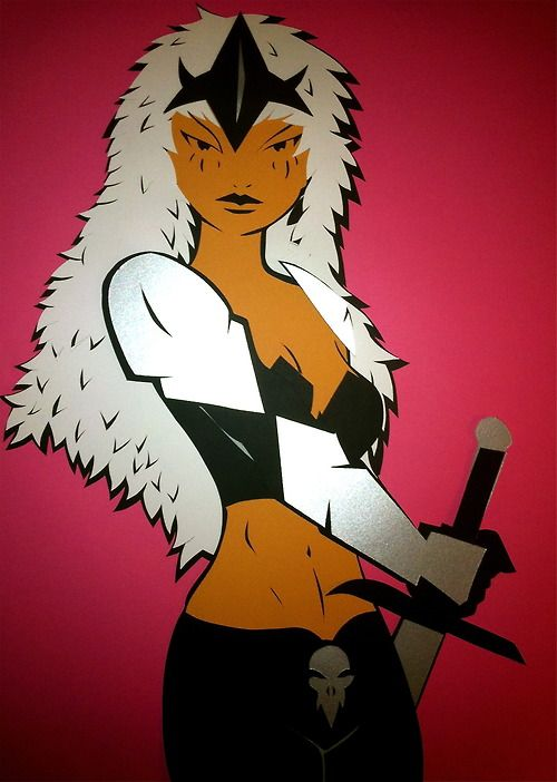Marvelous Marvel Ladies Month - Warbird cut-out