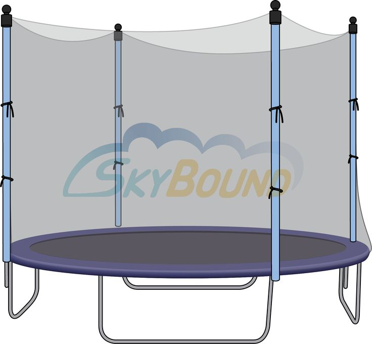 12 Ft. (Frame Size) Round Replacement Trampoline Net with Adjustable Straps FOR 6 Straight Pole Enclosure Systems . (Fits Brands Bravo / Airzone / Variflex) (Poles Sold Seperately) - TrampolinePartsCenter.com