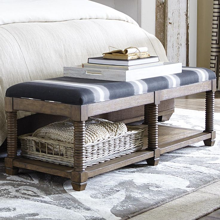 Compass Bench With Knotty Oak Veneer Brings An Everyday Softness. By Bassett  Furniture.