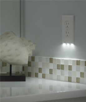 We need to get these for the basement and throughout the house!! Cost $0.10 per year to have one of these running.Like a traditional night light, they turn off during the day and come on once dark.