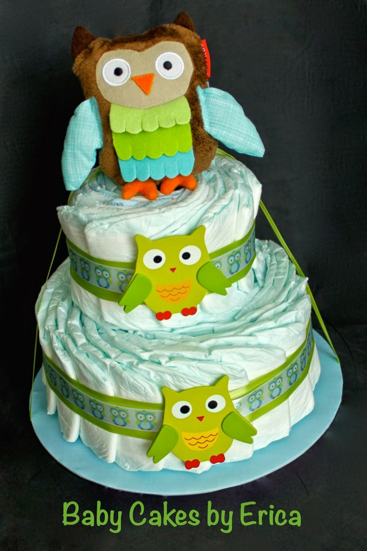 20 best diaper cakes for girls images on pinterest cake baby owl diaper cake baby cakes by erica baditri Gallery