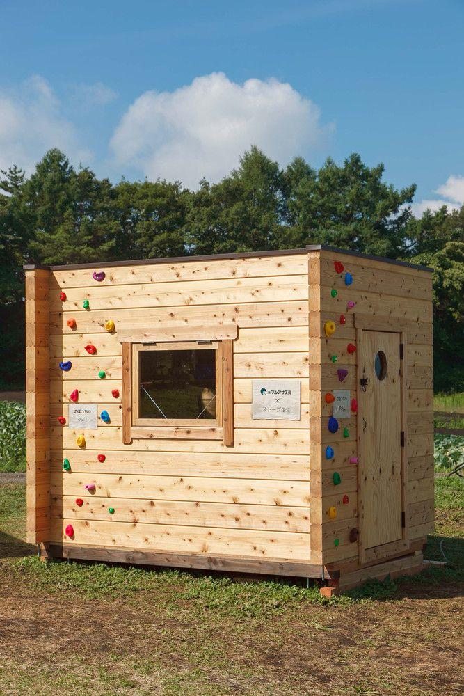 コンセプトは「小屋+小屋=家」小屋(部屋)と小屋(部屋)を組み合わせて家になる。 小屋(部屋)は家の一番小さなカタチだ。 異なる樹種を組み合わせ、自然の色合いを楽しむ。 ※杉:59.9万円〜、桧:79.9万円〜、杉x桧:69.9万円〜(土台、建具、屋根、工賃別)