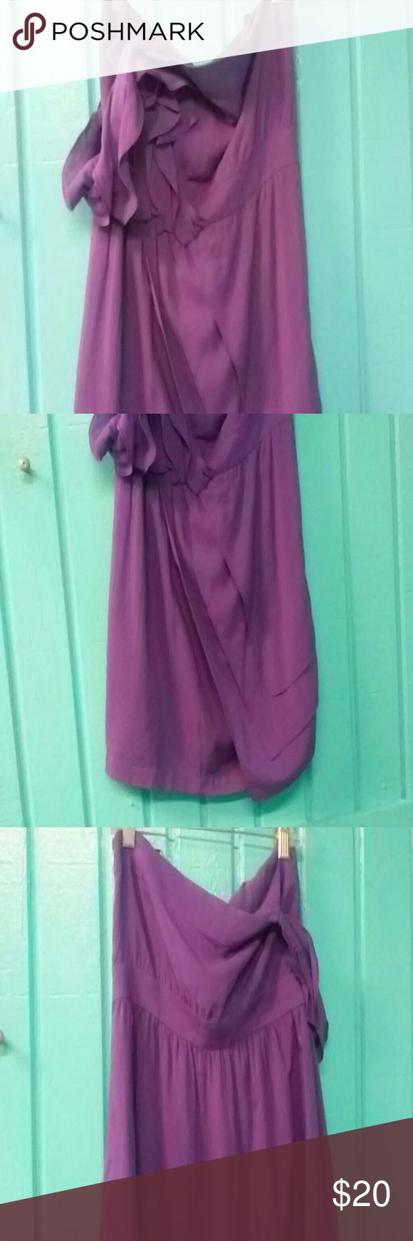 Bcbg purple short dress Bcbg purple short dress. Sleeveless one strap over arm size s BCBG Dresses