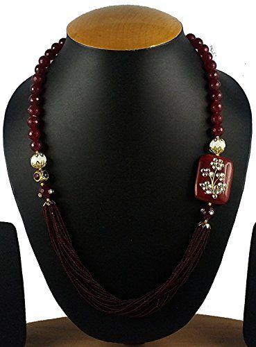 Attractive Designer handmade Maroon Onyx Beads Kundan Wor... https://www.amazon.com/dp/B01NB1PORG/ref=cm_sw_r_pi_dp_x_YIyMybK5SHWES