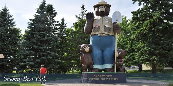 Smokey the Bear and Cubs in downtown International Falls, Minnesota one of my favorite places to be. Hometown