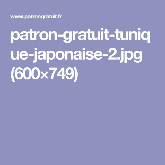 patron-gratuit-tunique-japonaise-2.jpg (600×749)