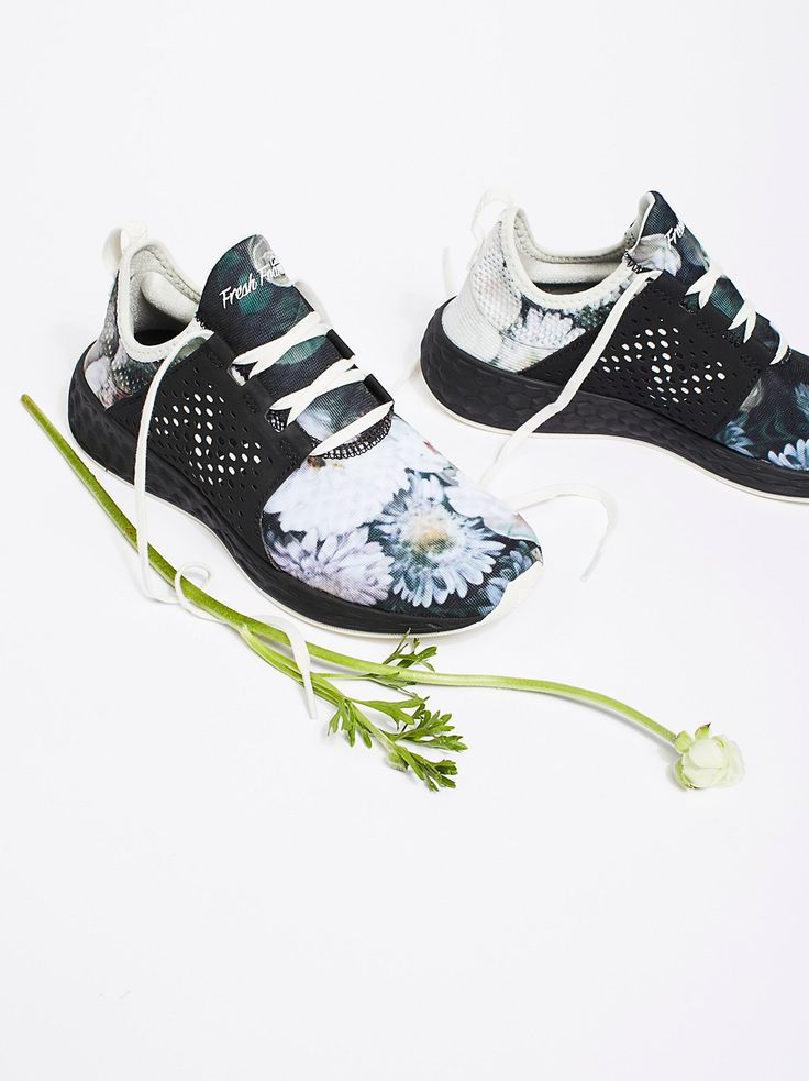 Fresh Foam Floral Trainer | Upgrade your workout with these Fresh Foam floral trainers from New Balance.    * Lightweight   * Bootie construction and stretch heel   * Pull tab in back   * Lace-ups   * Fresh foam cushioned footbed
