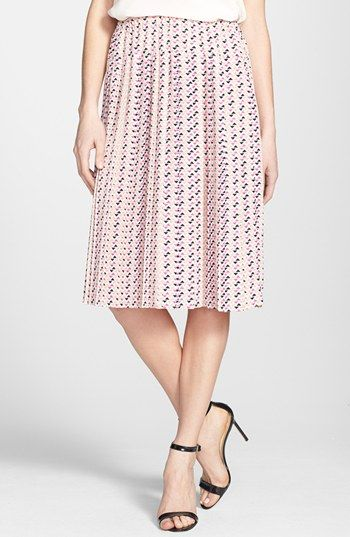 Ace Delivery Print Pleated Skirt available at #Nordstrom