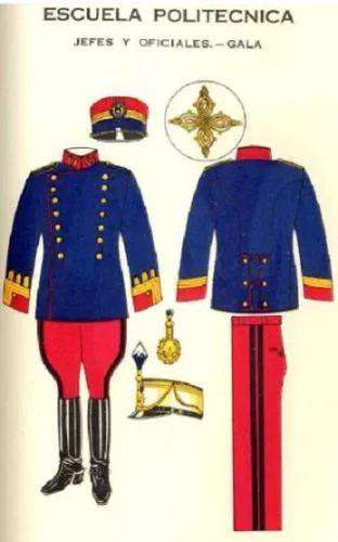 Unforme de gala de jefes y oficiales de la escuela politecnica del Ejército de Guatemala en 1939 / 1939 Guatemalan Army polytechnic school staff officers' parade dress uniform.