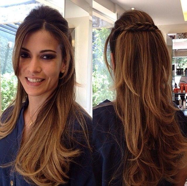 penteados para cabelos longos e lisos para casamento - Pesquisa Google                                                                                                                                                     Mais