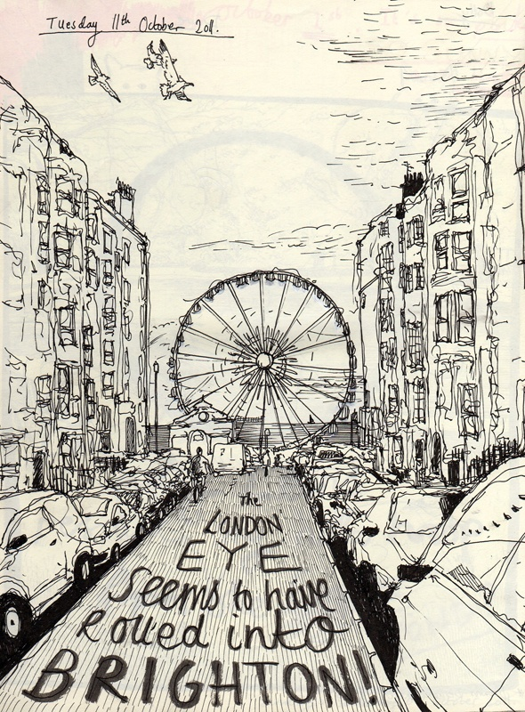 Illustration of Brighton Wheel
