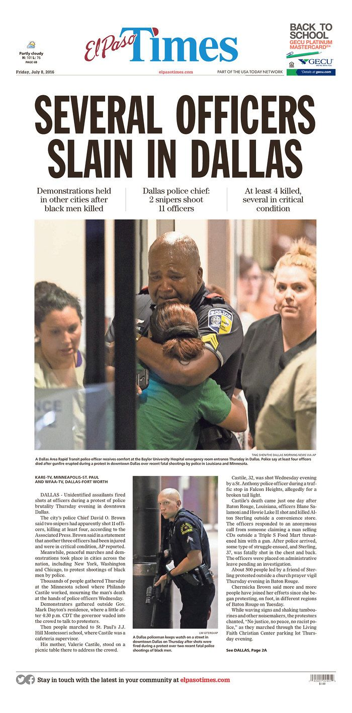 EL PASO TIMES 7/8/16 via  Newseum