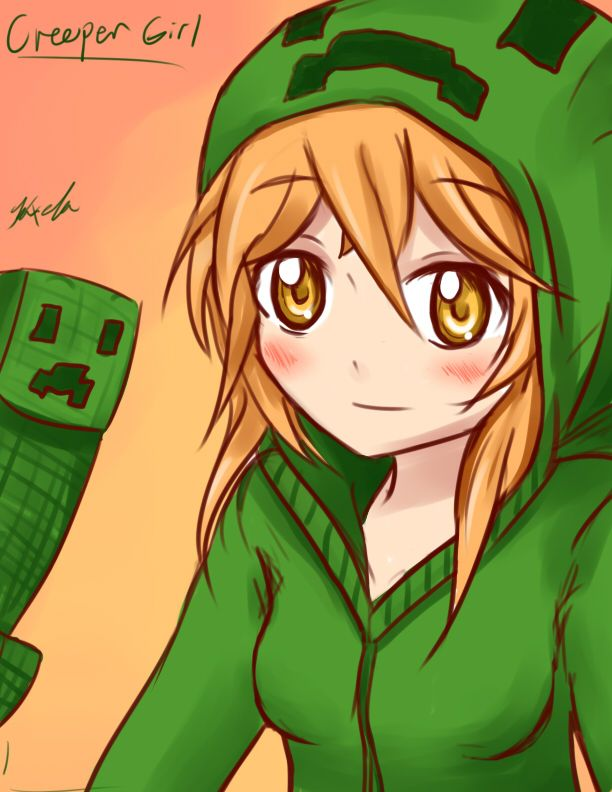 17 best images about minecraft on pinterest chibi anime - Creeper anime girl ...
