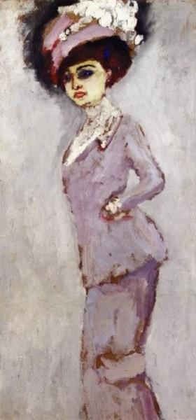 """Kees van Dongen 1877 - 1968 """"Elegant Woman In a Hat"""""""