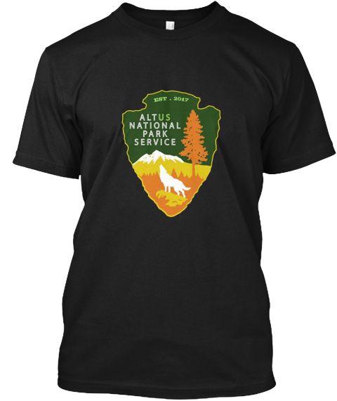 Alt Us National Park Service Resist Bear Black T-Shirt Front