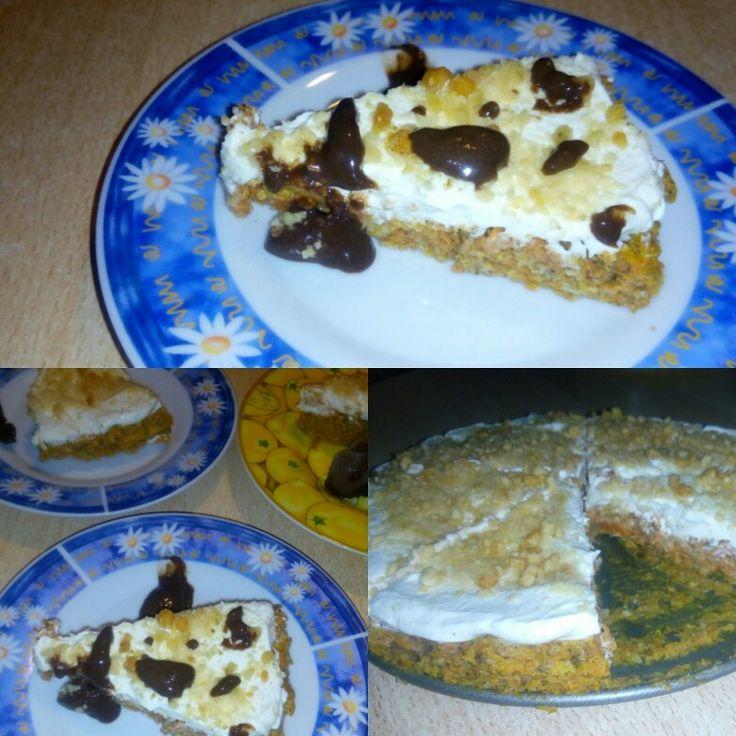 Mrkvový fit dort