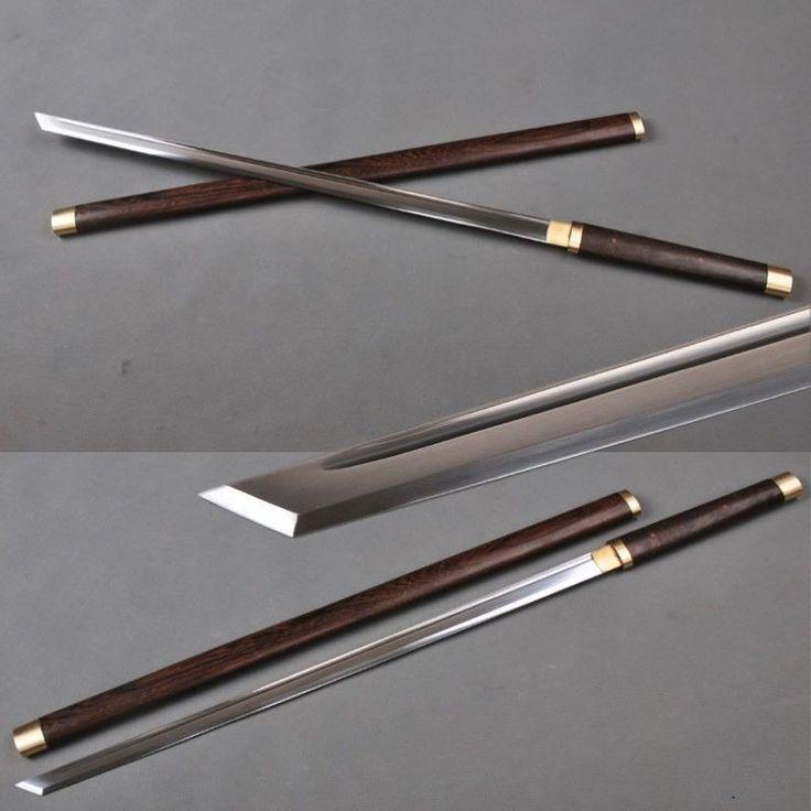 1060 à la main en acier au carbone japonais Ninja épée katana lame droite pratique dans   de   sur AliExpress.com   Alibaba Group