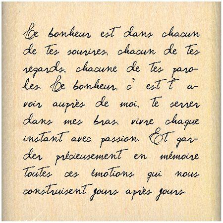 Tampon - Grand Carré Texte