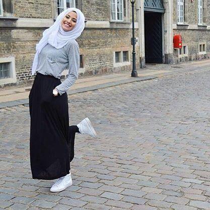 Street Hijab Fashion Muslim Hijab Pinterest Moda De Hijab De La Calle Moda Hijab Y Hijabs