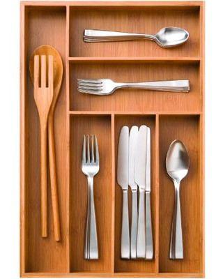 Shop storage utensil trays and seville on pinterest for Vertical silverware organizer