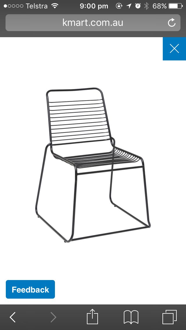 Bistro Chair from Kmart to go with Alba table and bench seat from focus on furniture