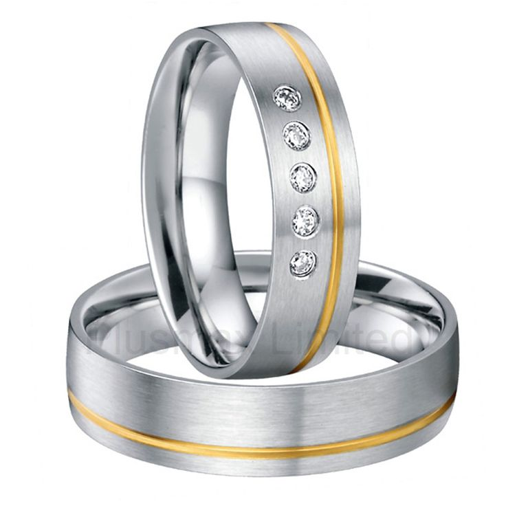 surgical stainless steel wedding band love couples ring set pair cheap jewelry online handmade comfort fit anillos