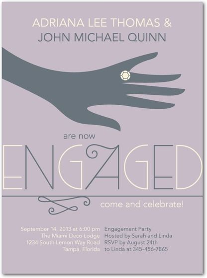 19 best Engagement invitation images on Pinterest Engagement - engagement party invites templates