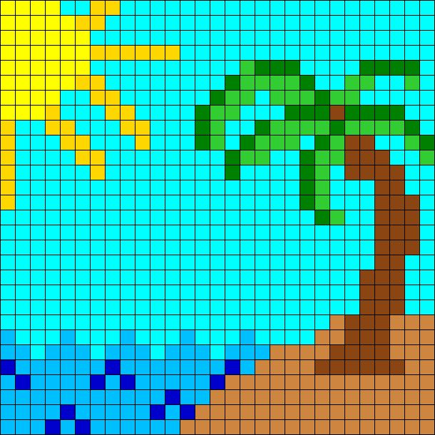 Beach Perler Bead Pattern