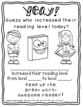 Free:)  It's time to re-assess reading levels in my classroom, and I'm SO proud of my kids when they increase their reading levels.  I HAD to make them an award.  There are two versions - one with a spot where you can jot down the end of year reading level goal...and one version without it.Enjoy this freebie:)Be sure to look at my Back to School Growing Bundle.