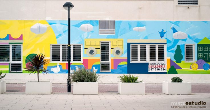 41 best images about murales para colegios y guarder as on for Murales infantiles
