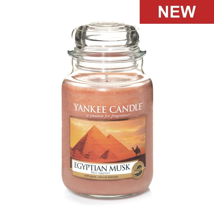 Egyptian Musk - Candles - Yankee Candle ... A prized treasure… A captivating musk with hints of vanilla bean and cedarwood.