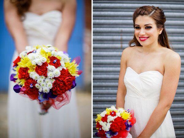 Superman wedding bouquet