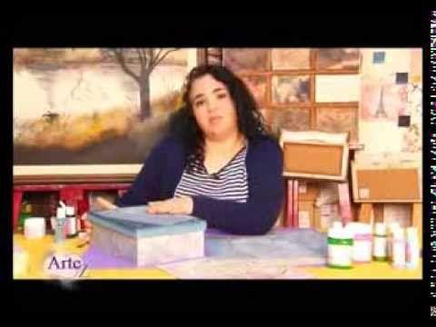 Cómo decorar cajas con papeles y texturas - YouTube
