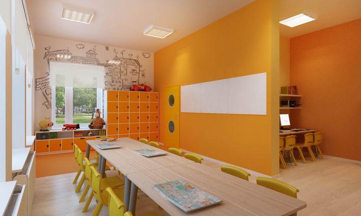 wizualizacja drugiej sali przedszkola prywatnego.