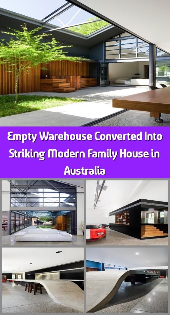 Empty Warehouse Converted Into Striking Modern Family