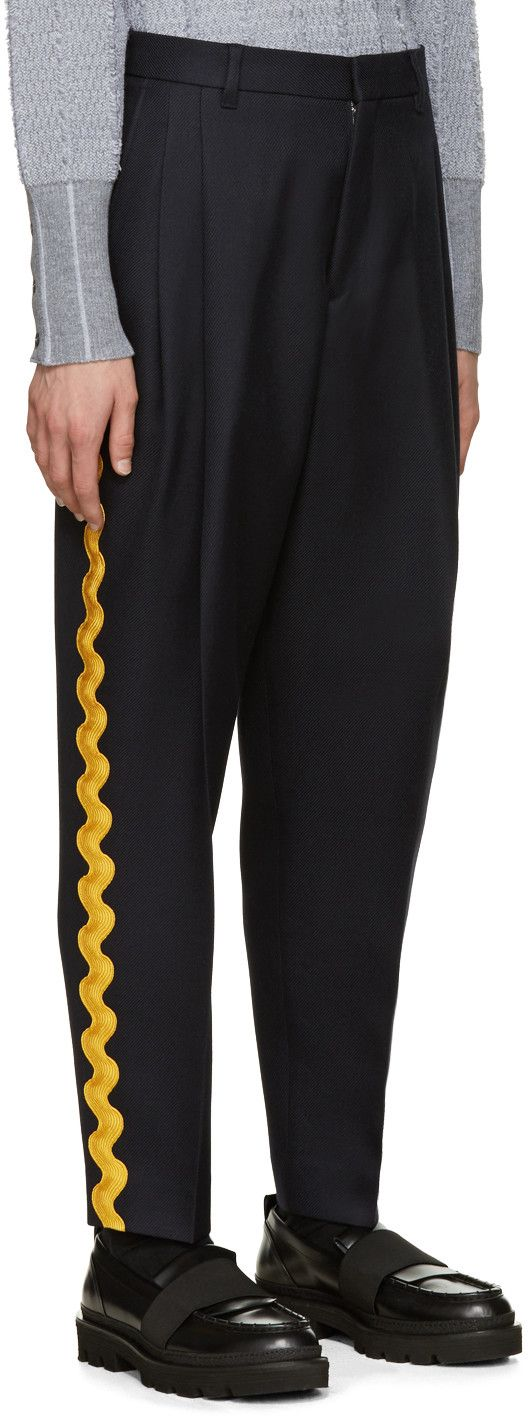 Acne Studios - Navy Piano Ribbon Trousers