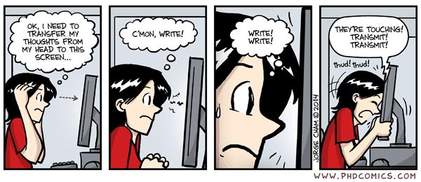 Code out of my head, part 2 07/23/14 PHD comic: 'Writing shortcut'