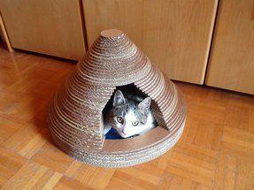 Tuto : une maison en carton pour votre chat