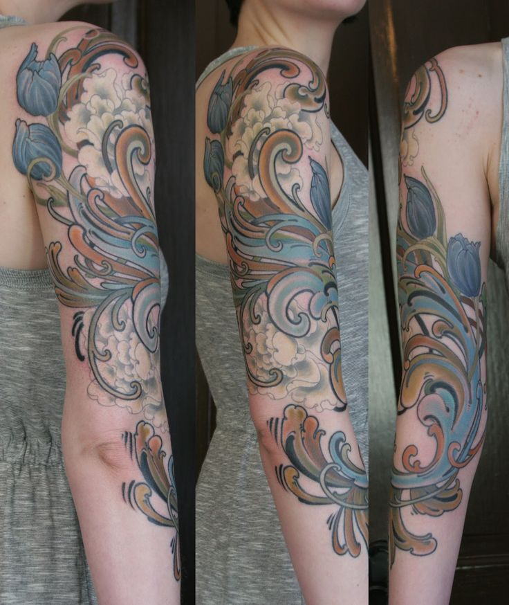 norwegian-rosemaling-tattoos Great Tattoo Ideas and Tips