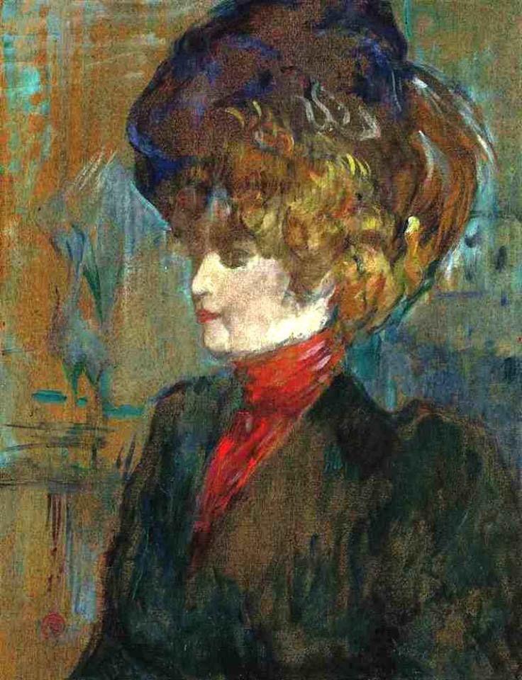 Henri de Toulouse-Lautrec - Tête de lady anglaise, 1989. Oil on panel