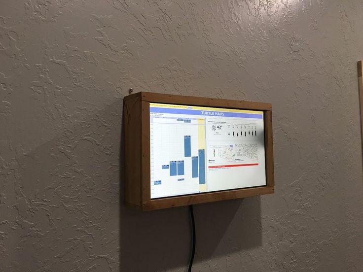 Raspberry-Pi wall mounted calendar