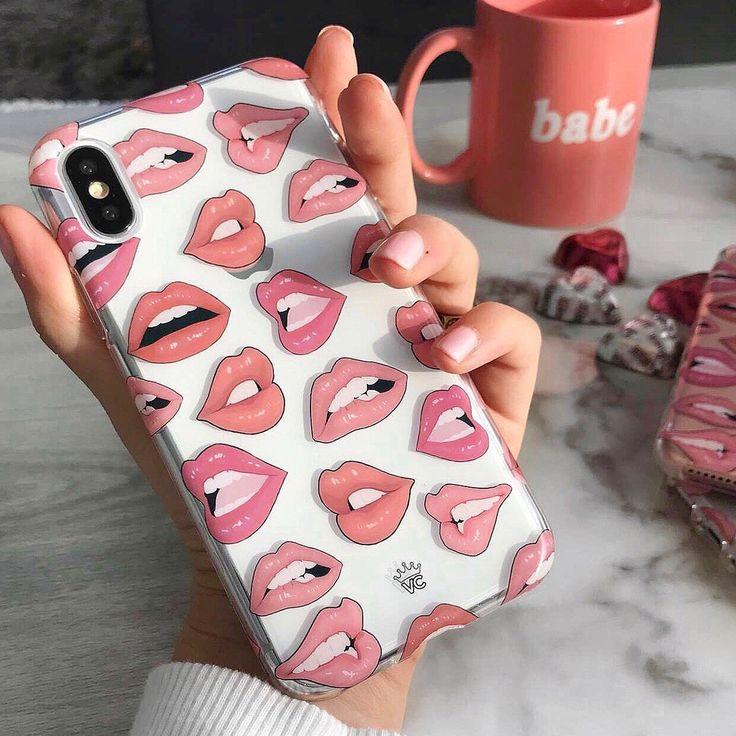 Lip phone case