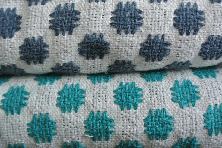 Plaid coton tissé et filé main