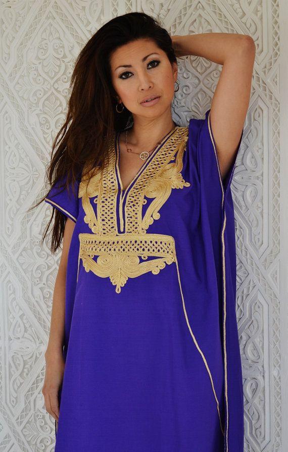 Purple with Gold  Marrakech Resort Caftan by MaisonMarrakech