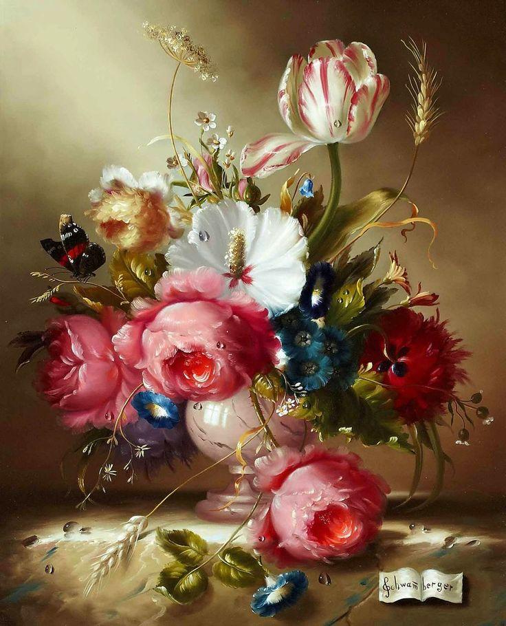 Картинки цветы натюрморт, простая