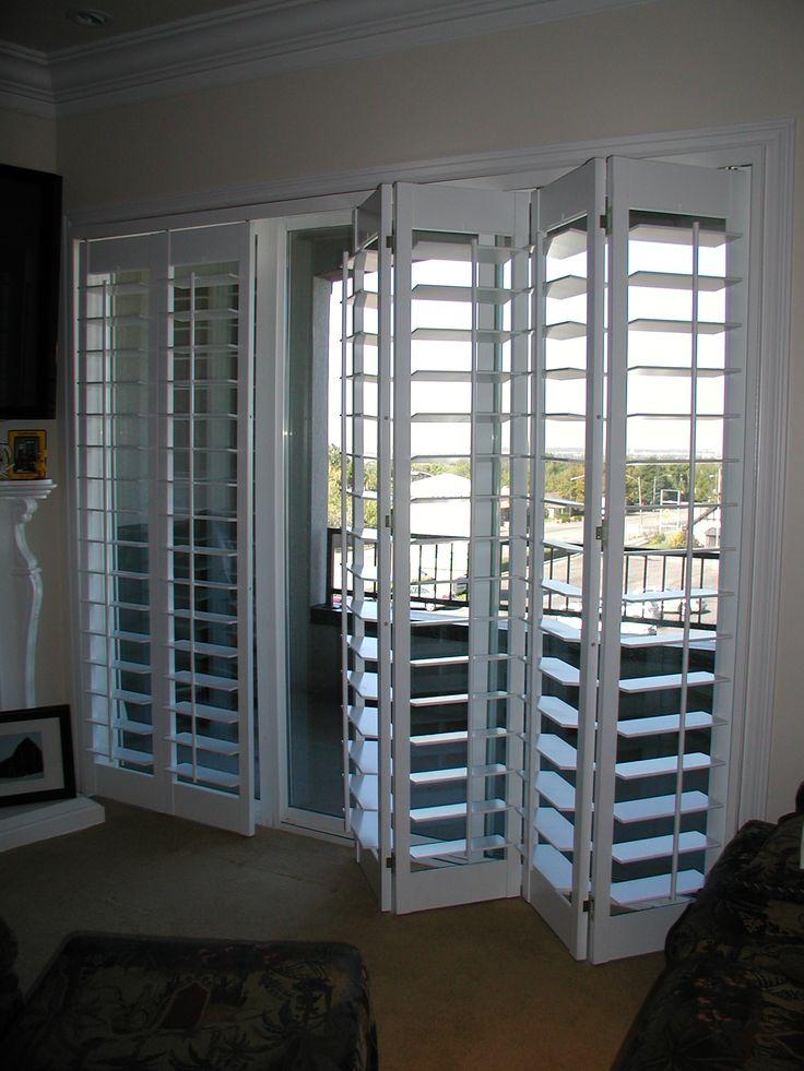 Sliding door shutters bi fold shutters for Bi fold sliding glass doors