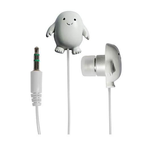 These Doctor Who Adipose Earbuds are pretty awesome. These Adipose won't help the fat slide right off of you, but they do look pretty cute in your ears.  Let these cute little creatures deliver some tunes into your ears, while ot